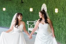 Lesbian wedding attire | Same sex wedding | Mishkalo