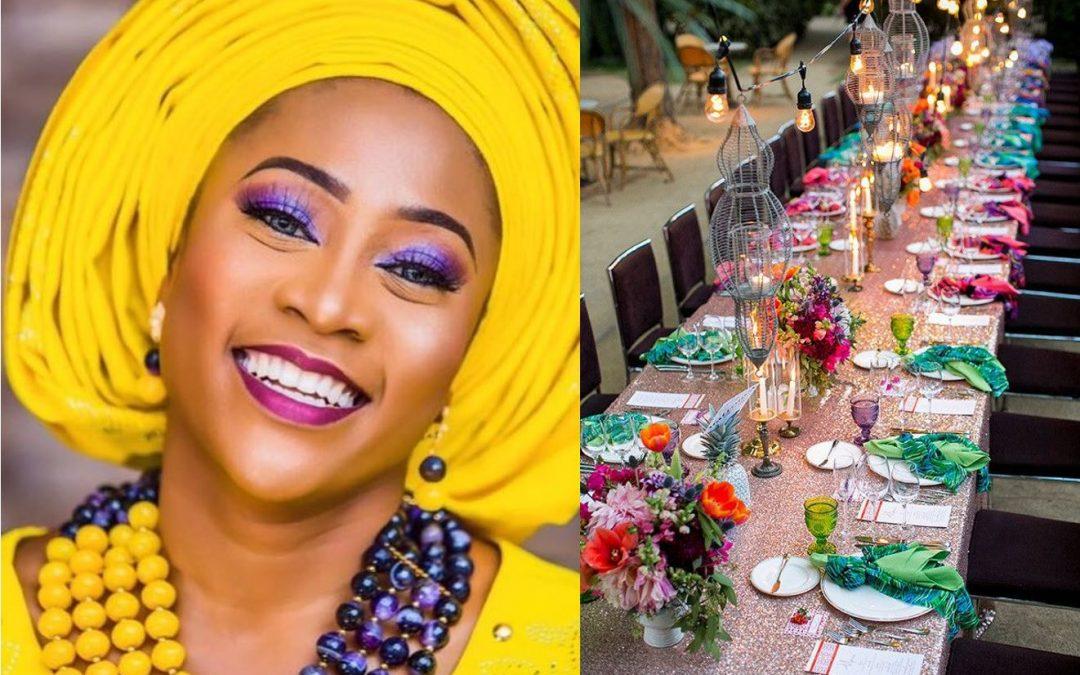 Wedding Day makeup matching the decor?