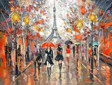 Evening Boulevard by Artist Dmitry Spiros