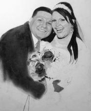 Wedding Portrait by artist Dana Swasko on Mishkalo.