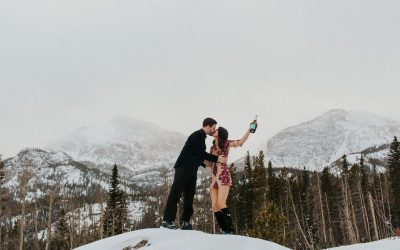 Alyssa & Jake's Snowy Colorado Engagement Photo Session