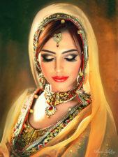 Custom Portrait Of Bride | Novel marriage portrait | Mishkalo Art Registry
