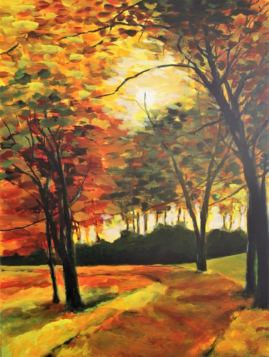 A Walk In The Park by Artist Brent Hanson