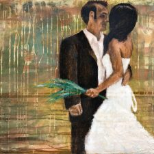 Abstract Bridal Portraits 24X36-1 | Wedding Anniversary Portrait | Mishkalo Art Registry