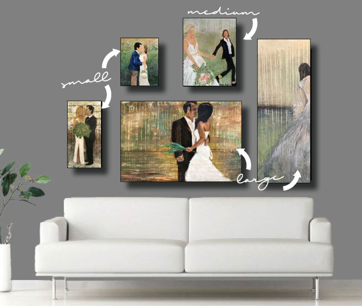Abstract Bridal Portraits - Many Sizes And Price List | Unique wedding portrait | Mishkalo Wedding Registry