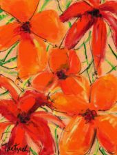 Abstract Floral Two | Art wedding anniversary gift | Wedding Registry for Art