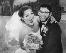 Wedding Portrait by Artist Dana Swasko on Mishkalo