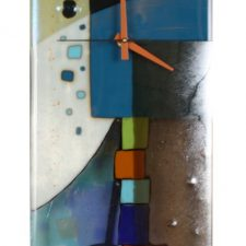Andrea Fused Glass Pendulum Clock | Novel bridal shower present | Mishkalo Wedding Registry for Art