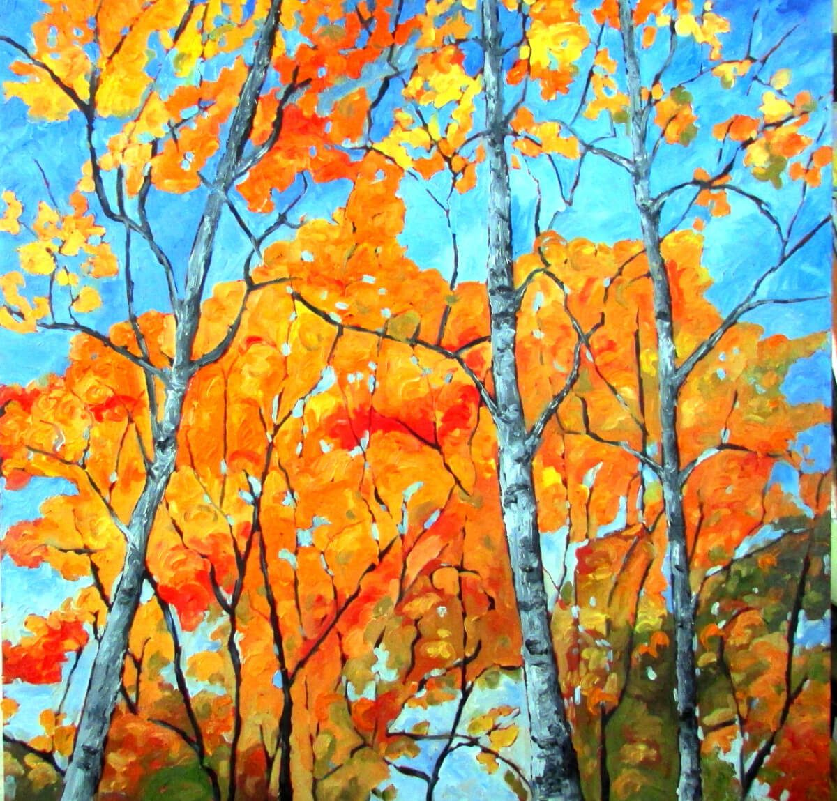 Autumn Birches | Marriage gift idea | Wedding Registry for Art