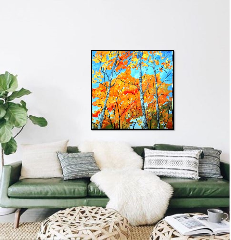 Autumn Birches | Original Art wedding gift | Mishkalo Wedding Registry