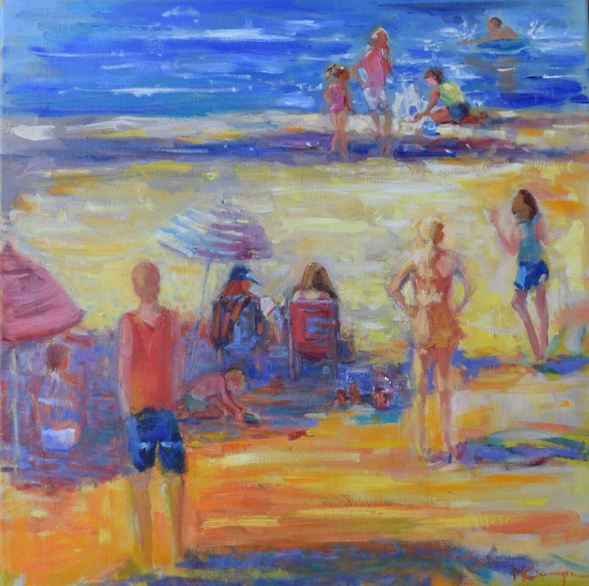 Beachgoers | Different wedding anniversary gift | Mishkalo Art Registry