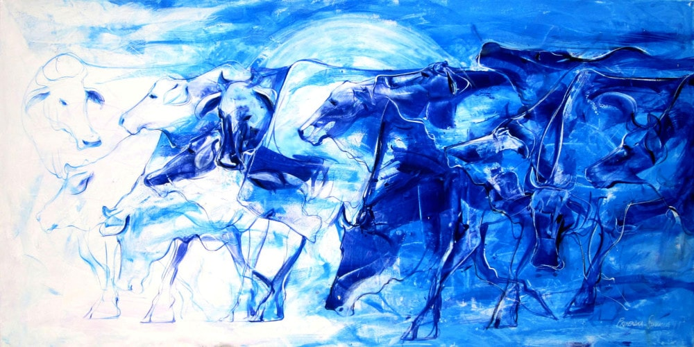 Blue Herd | Alternative bridal shower gift | Wedding Registry for Art