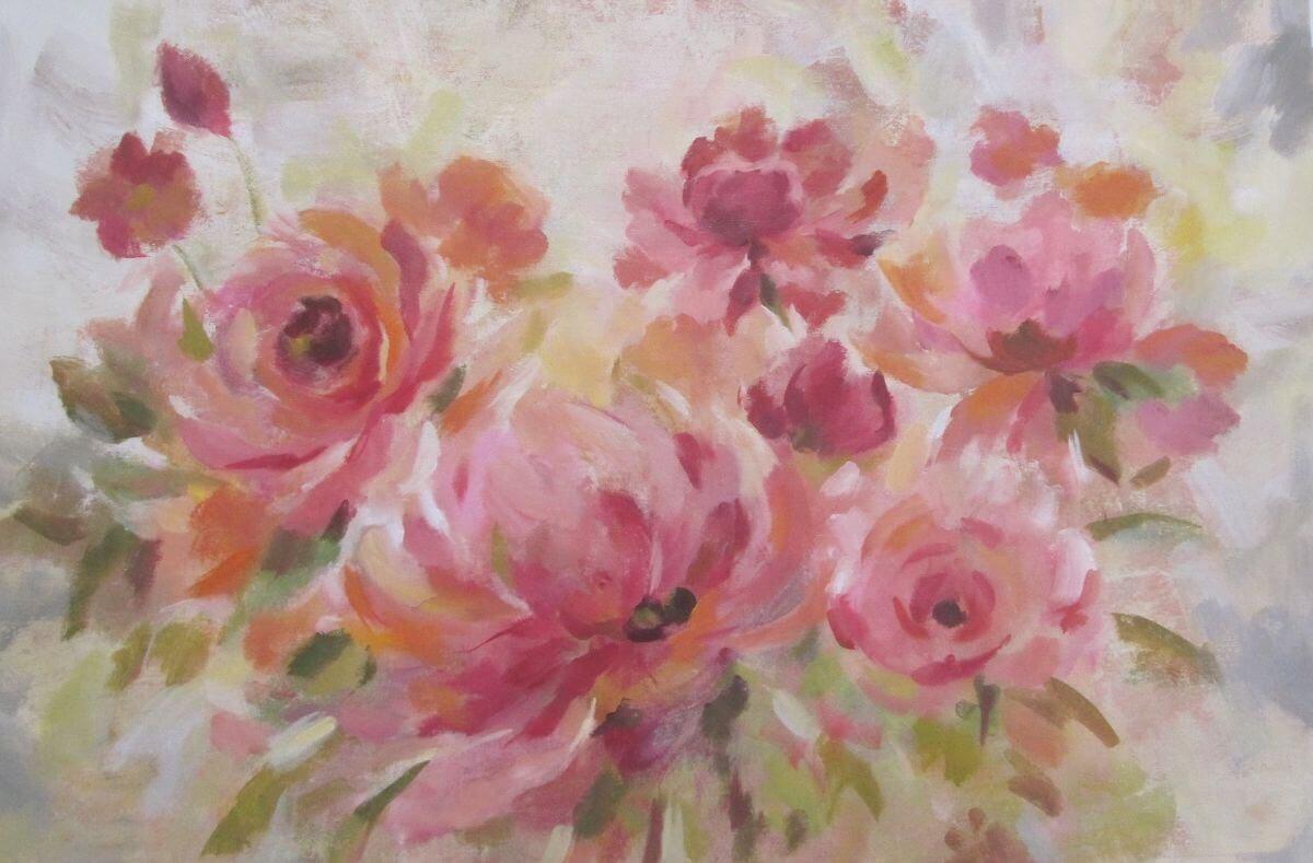 Brushy Peonies | Cool bridal gift | Bridal Registry for Art