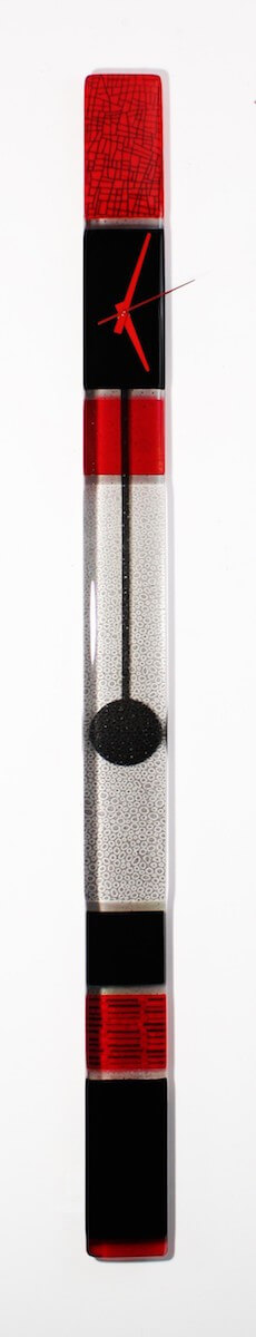 Casablanca Art Glass Pendulum Clock | Unusual second marriage gift | Bridal Registry for Art