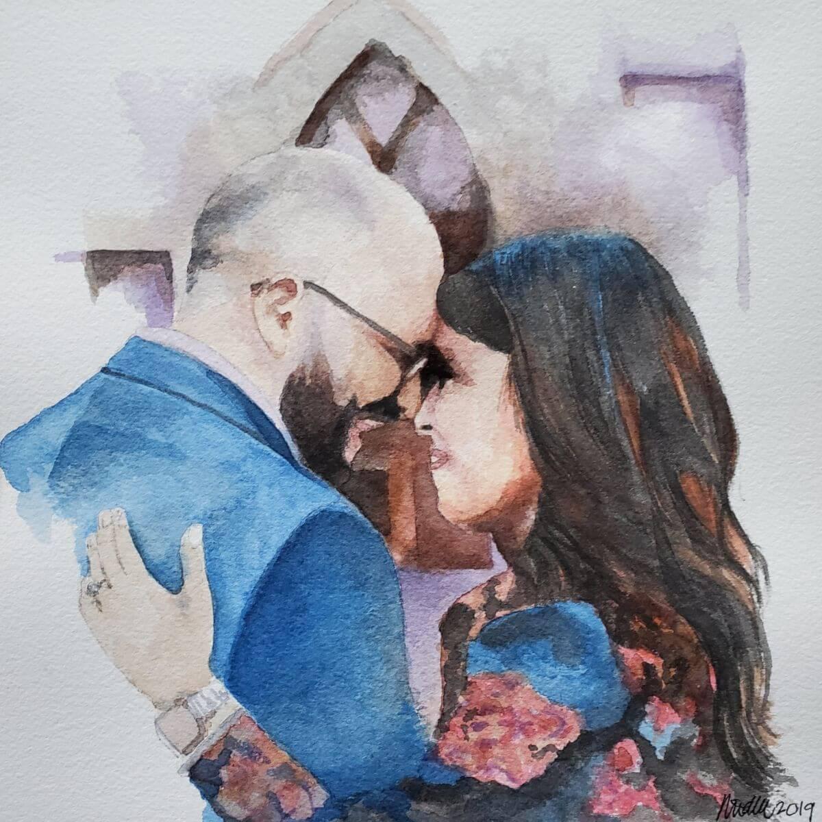 Engaged | Painting bridal portrait | Mishkalo Art Registry