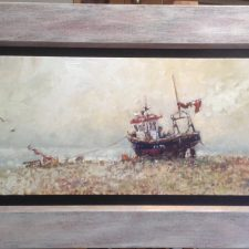 Fishing Boat On Aldeburgh Beach | Fun marriage gift | Mishkalo Art Registry