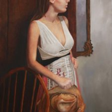 Girl With Straw Hat | Original Art bridal present | Mishkalo Bridal Registry