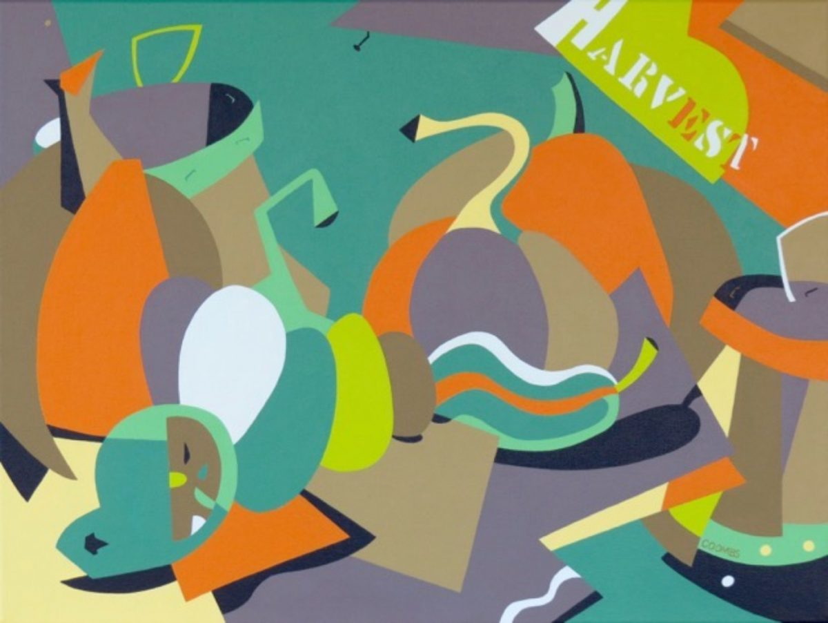 Harvest. HARVEST is an autumn still life from a modernist point of view. A traditional palette combines with flat shapes to evoke the familiar forms of squash
