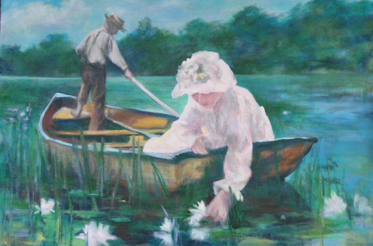 Homage To Monet | Original Art bridal present | Wedding Registry for Art