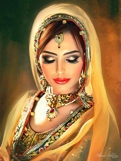 Wedding Portrait Of Bride | Novel marriage portrait | Mishkalo Art Registry