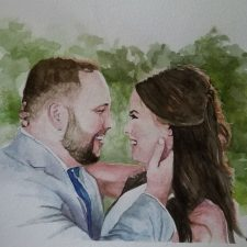 Married | Original Art second marriage portrait | Mishkalo Wedding Registry for Art