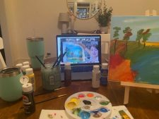 Virtual Paint and Sip Night   Team Building   Corporate event   Mishkalo
