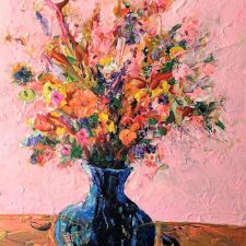 Pink Room Floral | Marriage gift | Wedding Registry for Art