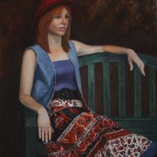 Portrait Of A Girl In A Red Hat | Unique bridal shower present | Wedding Registry for Art
