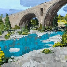 Roman Bridge - Somewhere In Provence | Art wedding present | Mishkalo Wedding Registry for Art