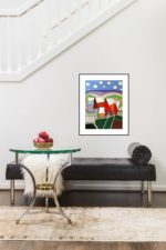 One Rural  Abstraction   Wedding Anniversary Present   Bridal Registry for Art