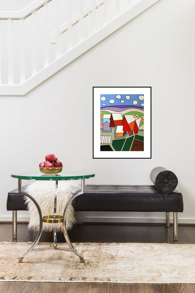 One Rural  Abstraction | Wedding Anniversary Present | Bridal Registry for Art