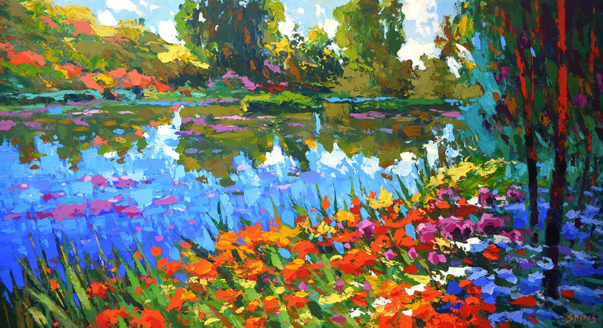 Summer Pond | Painting gift | Mishkalo Wedding Registry
