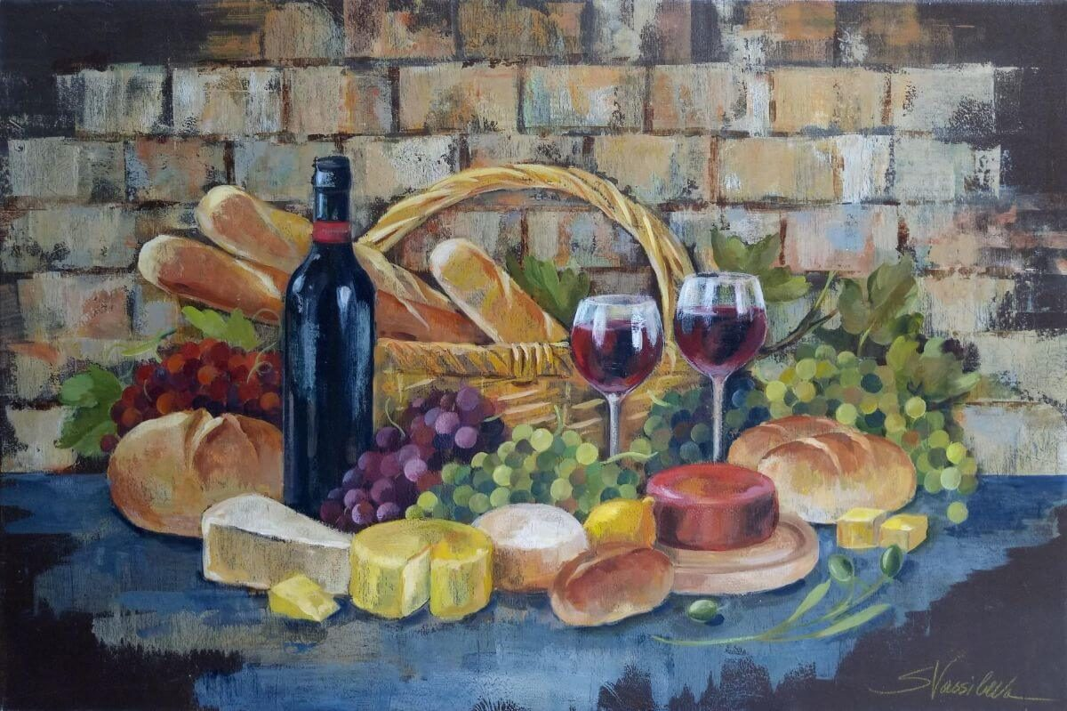 Tuscan Evening Wine | Art checklist | Mishkalo Bridal Registry