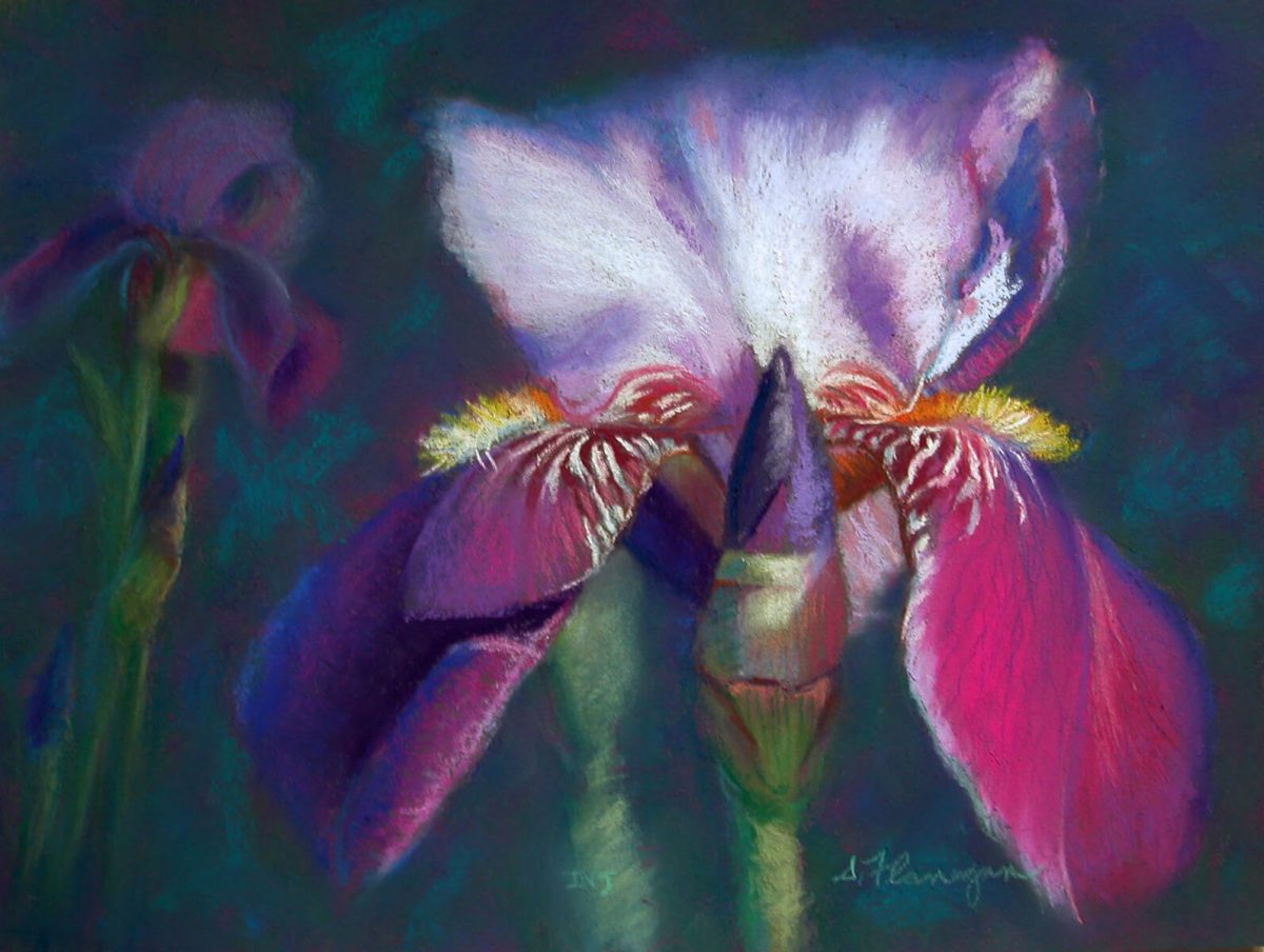 Violet Iris | Art wedding register | Mishkalo Art Registry