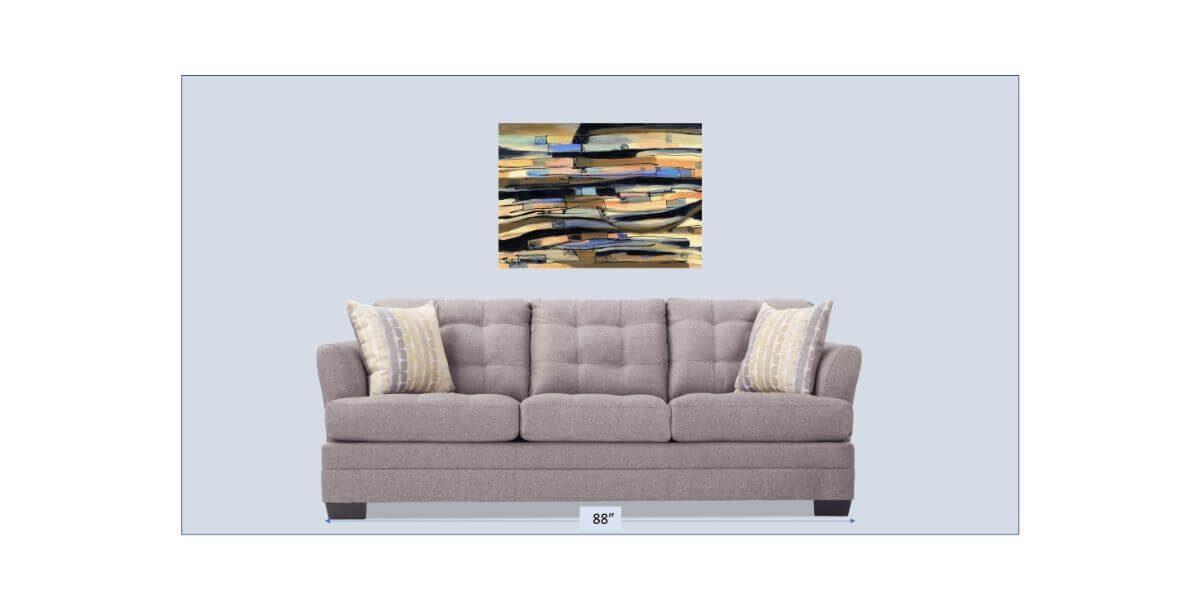 Waves Of Grain And Sky   Original Art gift   Mishkalo Bridal Registry