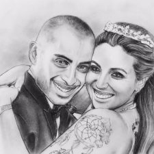 Charcoal Portrait: Wedding Couple 1 | Painting portrait | Mishkalo Wedding Registry
