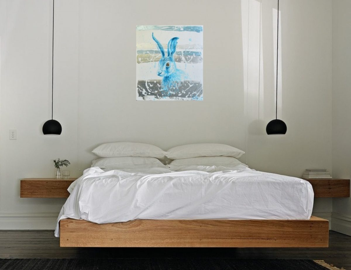 Blue Bunny | Original Art wedding registry | Bridal Registry for Art