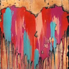 Drippy Blue Heart | Different bridal registry | Wedding Registry for Art