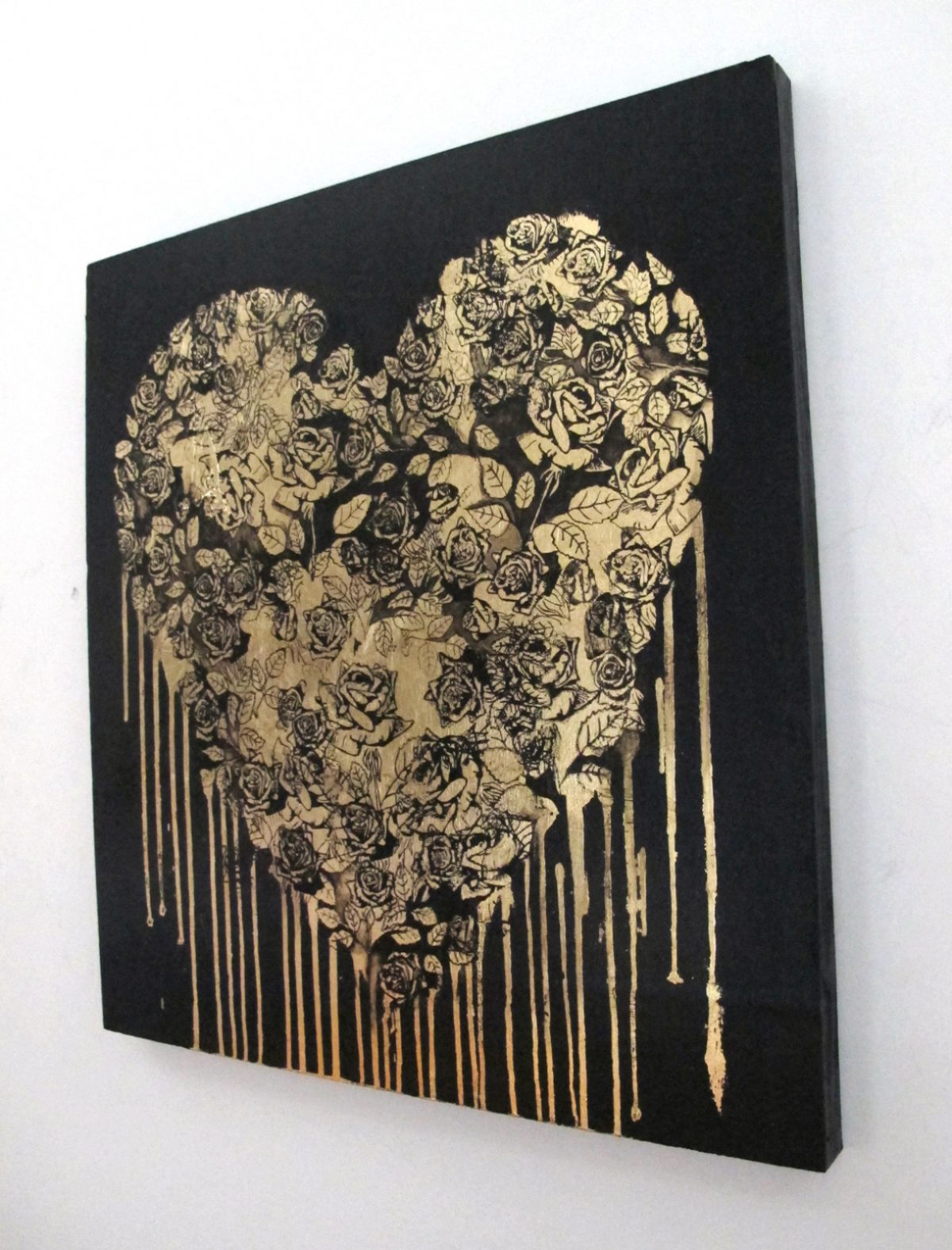 Gold Heart | Original Art gift idea | Mishkalo Bridal Registry
