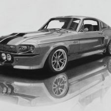 Mustang Eleanor | Fun portrait | Wedding Registry for Art