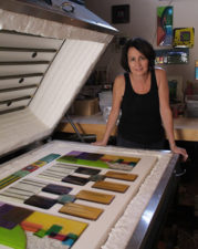 Nina Cambron is a glass artist on Mishkalo who makes stunning clocks and glass art.