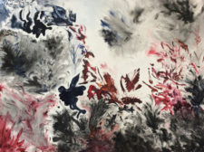 Purely Visceral Series - Grey And Red | Unique wedding anniversary gift idea | Mishkalo Art Registry