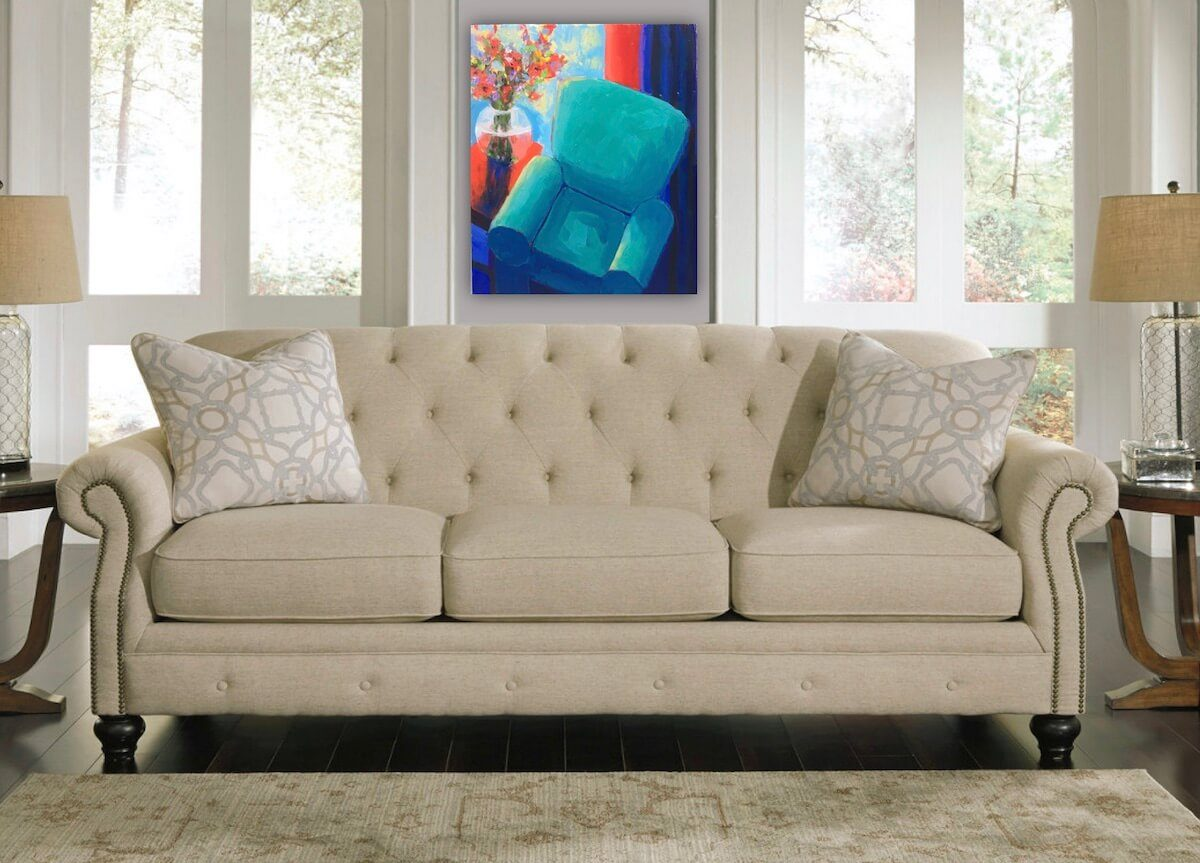 The Blue Chair | Different bridal gift | Wedding Registry for Art