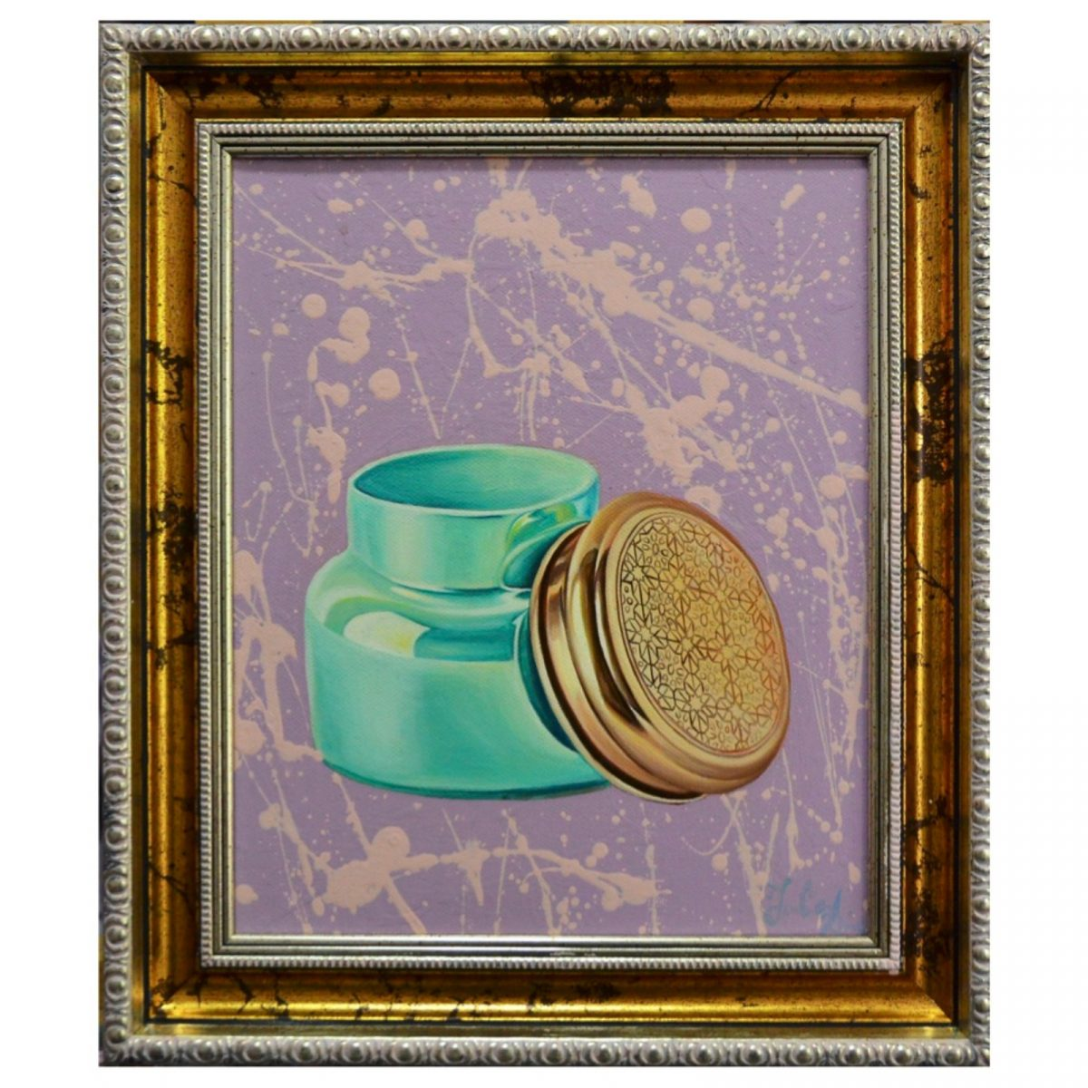 Turquoise Beauty Jar | Artistic marriage gift idea | Mishkalo Art Registry